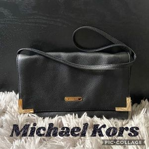 Michael Kors Black Leather Shoulder Purse